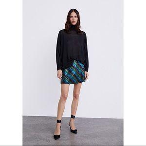 Zara Sequin Mini Skirt